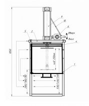 Пресс для сыра вертикальный пневматический